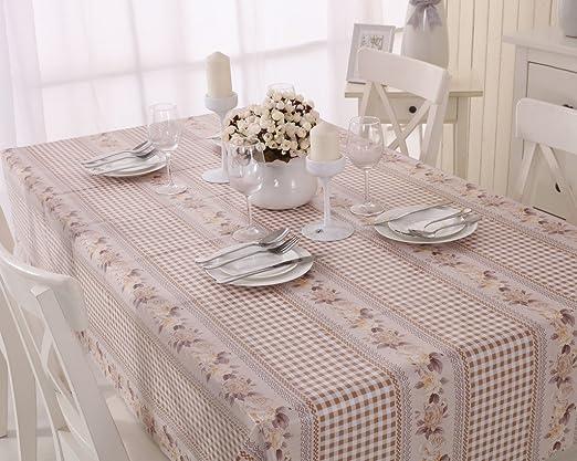 Vinylla Mantel para mesa de tela de guinga (PVC, fácil limpieza ...