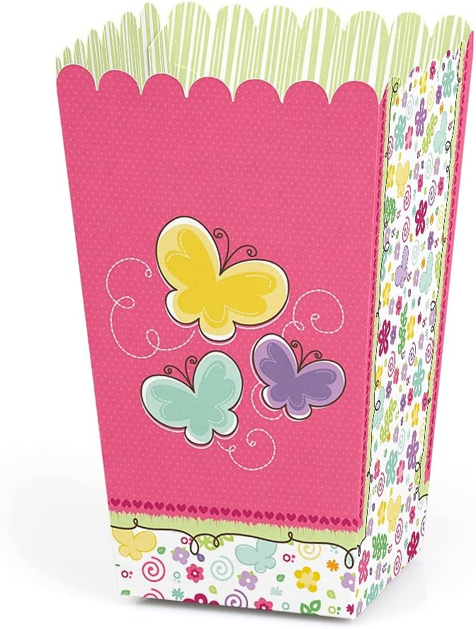 Amazon.com: Playful mariposa y flores – Baby Shower o fiesta ...