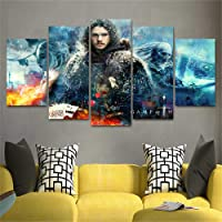 No Frame HD 5 Panel Canvas Got Game of Thrones Membro Art Painting Home Decor Poster Picture for Living Room Pittura Core