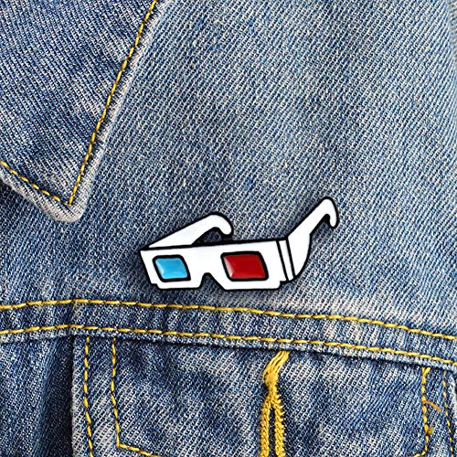 CHoppyWAVE Enamel Brooch Pin,Fashion 3D Sunglasses Badge Collar Lapel Brooch Pin Clothes Jewelry Bag Decor - White (Backpack Dollar)