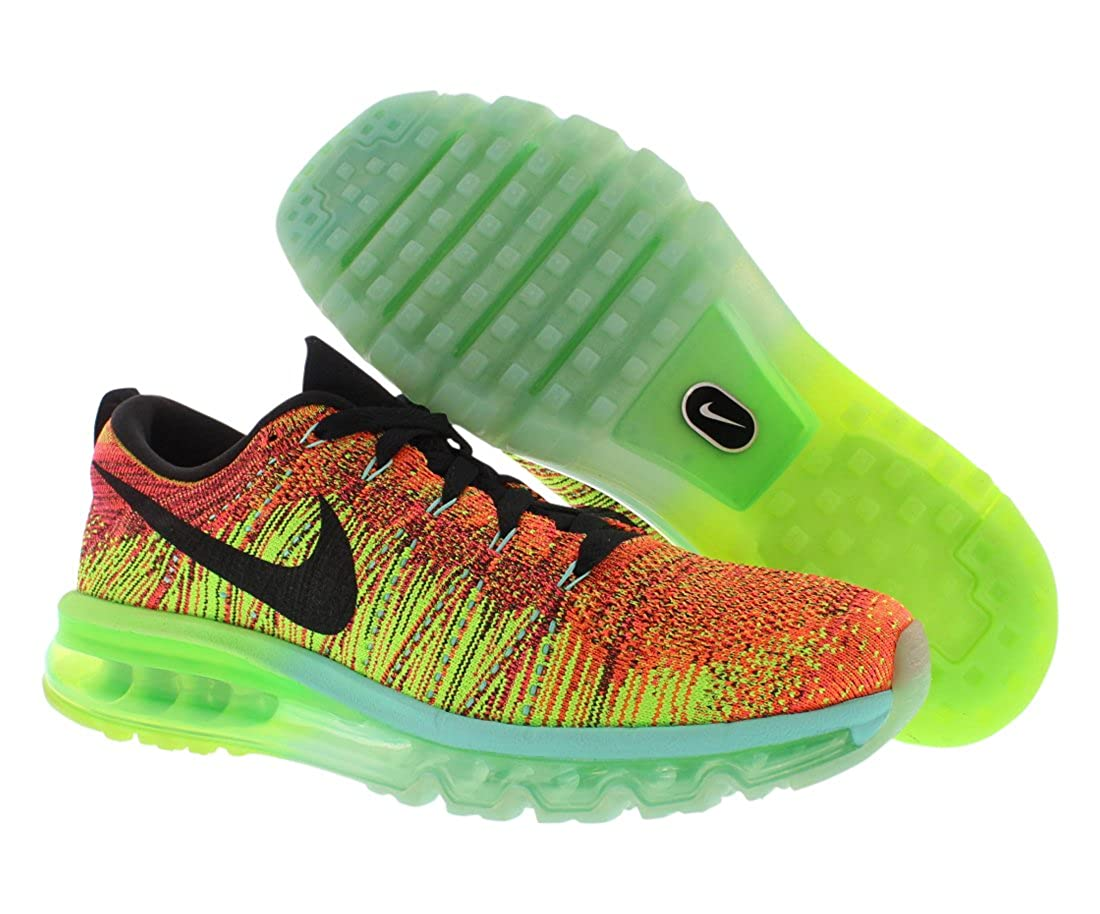 sale retailer 84c9a 32abc NIKE Flyknit Air Max 620469-800 Crimson Black Electric Green Men s Running  Shoes (Size 12.5)  Amazon.co.uk  Shoes   Bags