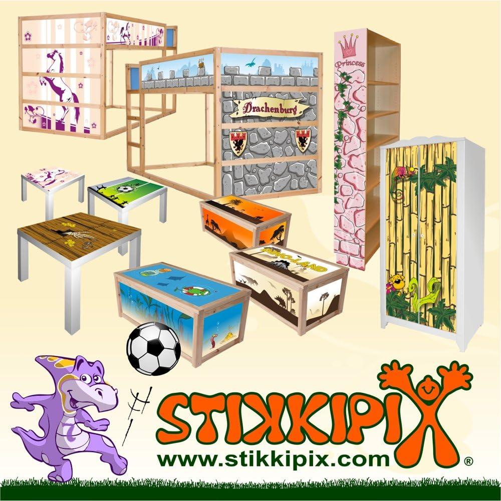 STIKKIPX M/öbel Nicht Inklusive Stikkipix Princess M/öbelsticker//Aufkleber f/ür Kinderzimmer Kommode//Nachttisch MALM von IKEA NS05