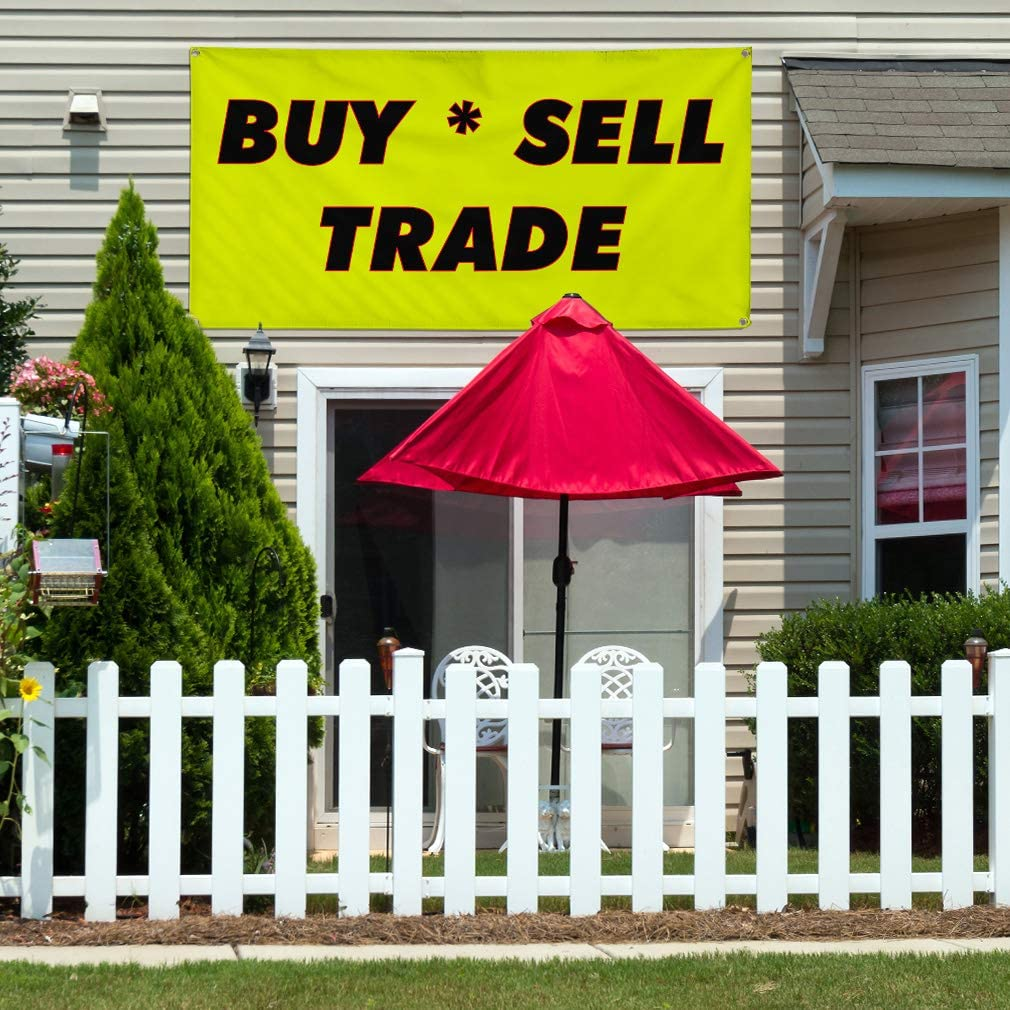 Vinyl Banner Multiple Sizes But Sell Trade Advertising Printing Trade Shows Outdoor Weatherproof Industrial Yard Signs 8 Grommets 48x96Inches