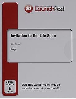 Amazon invitation to the life span 9781429283526 kathleen launchpad for invitation to the life span six month access stopboris Choice Image
