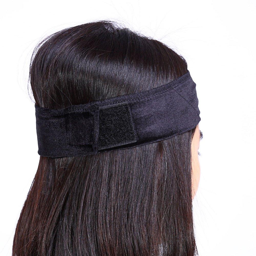 2 bandas de agarre de terciopelo para la peluca peluca antideslizante cinta el/ástica para el pelo banda de agarre para el pelo ajustable con velcro para el maquillaje