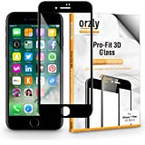 iPhone 7 Plus Screen Protector, Orzly® 3D Pro-Fit Tempered Glass Screen Protector [Full Cover Screen Protector] for iPhone 7 PLUS – BLACK [3D Curved Edges For Seamless Fit]