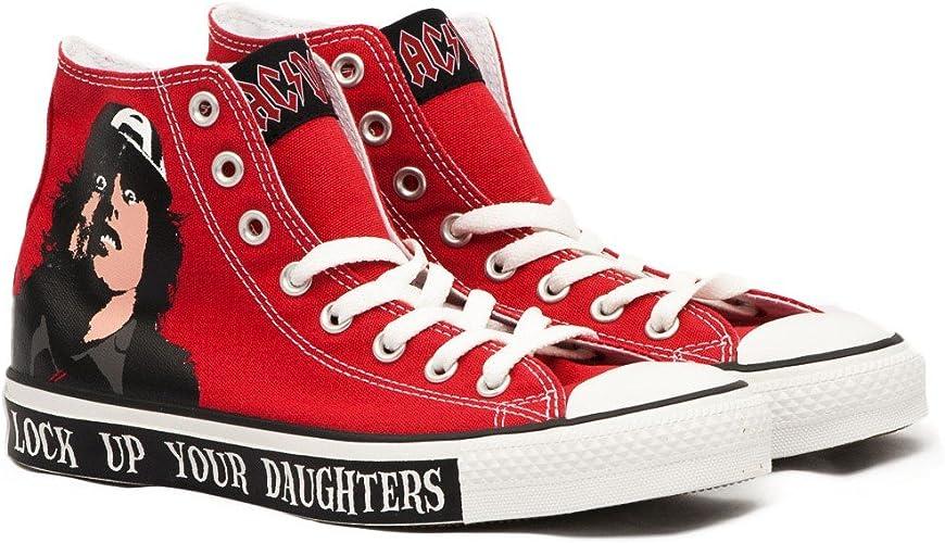 correr Australia auditoría  Converse All Star Hi AC/DC Red: Amazon.es: Zapatos y complementos