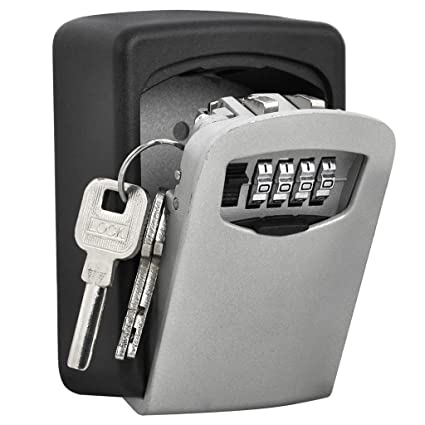 82adbdf3023d TTRwin Key Lock Box-Key Safe Box Wall Mounted 4 Digit Weather Resistant Key  Storage Box for Indoors or Outdoors Holds up to 5 Keys Secure Box Keys ...