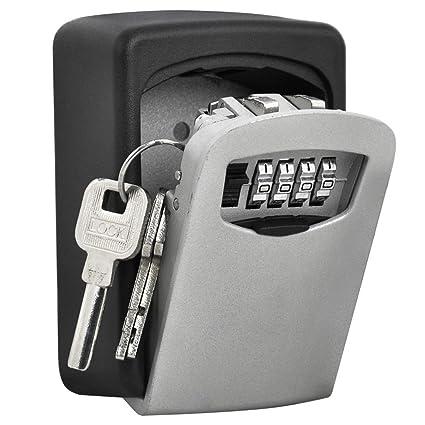 Combination Lock Box Key Storage Lock Box 4-digit Combination Lock Waterproof Indoor/outdoor Kleidung & Accessoires