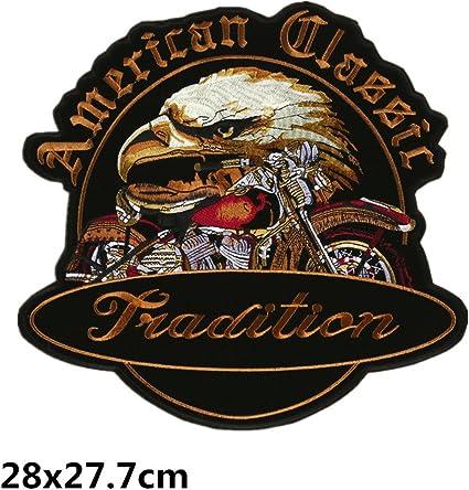Bella Patch pour Auto et Moto Brod/é Patch /à Repasser ou /à Coudre Applique Appliqu/és Broderie Drapeau Am/éricain Aigle Biker Patch pour Blouson Veste et Gilet Uniforme