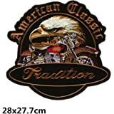 Bella Parches Apliques Sticker Parche Termoadhesivo Águila Harley Moto Bordado Motocicleta Rider Biker Halle Moto Patch para Chaleco Chaqueta Tamaño Grande