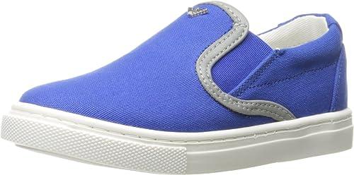 1688afdbd156 Armani Junior Baby Boy s Slide On Sneaker (Infant Toddler) Solid Medium Blue  Shoe