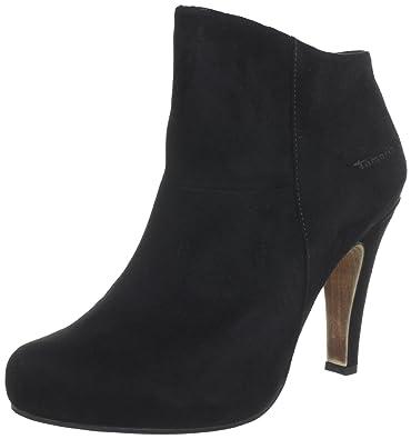 Tamaris TAMARIS - Botines de terciopelo mujer, color negro, talla 41: Amazon.es: Zapatos y complementos