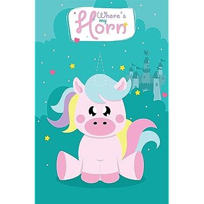 Pin el Cuerno en el Juego Fiesta cumpleaños Unicornio con 24 Cuernos Unicornio para Las Fuentes Partido Unicornio, Decoraciones Fiesta cumpleaños los niños: Juguetes y juegos