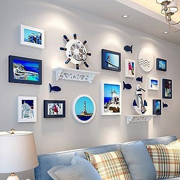 Amazon.de: Bilderrahmen Collage 12 Box Creative Mediterranean ...