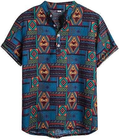 Berimaterry Camisa Señores Manga Corta Bolsillo Delantero Impresión de Hawaii Playa Hawaiana para Hombre Mujer Casual Camisas Verano Unisex 3D ...