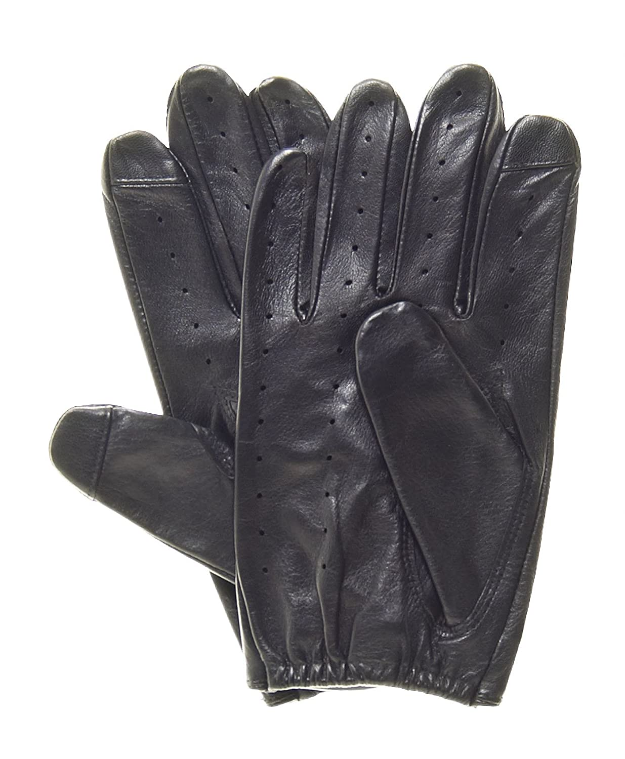 Quality leather driving gloves - Pratt And Hart Touchscreen Leather Driving Gloves Size S Color Black At Amazon Men S Clothing Store