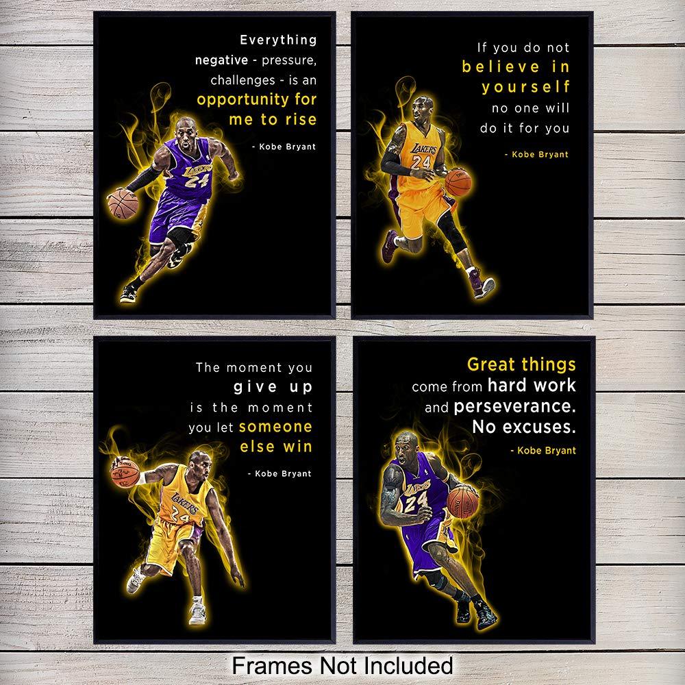 Gift for boyfriend Kobe Poster LA Lakers Sport Poster Gift for him Kobe Bryant Poster Art Kobe Bryant Basketball Artwork Wall Canvas
