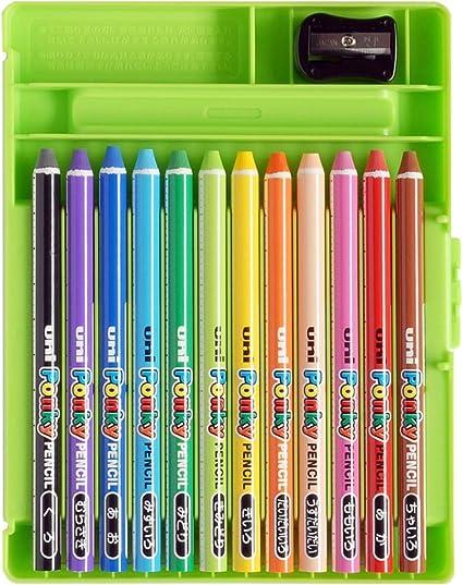 Mitsubishi Pencil colored pencils Pont key pencil 12 colors K800PK12CLT