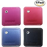 [4 Pack] Orzero Stylish Case For Tile Mate Finder with Keychain Protected from Scratch Wet Dirty (Tile Finder Not Included) - 4 Colors