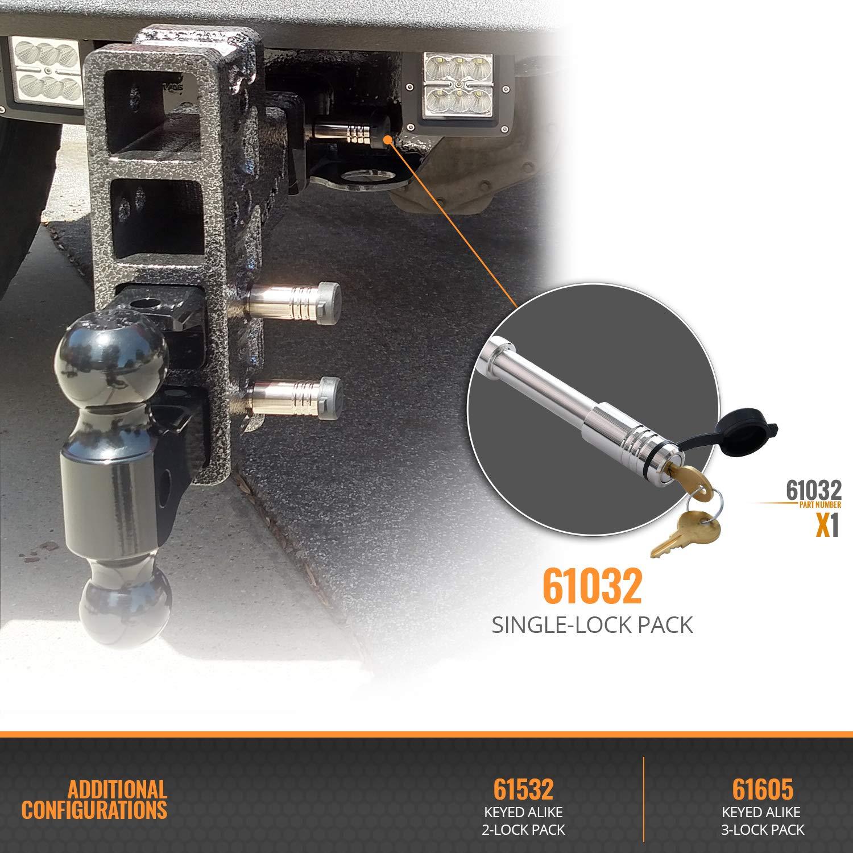 Hitch Locks 61532 2 Pack Keyed Alike Fits: 2 /& 2-1//2 Receiver | Gen-Y Hitch Fits: 2 /& 2-1//2 Receiver | Gen-Y Hitch InfiniteRule Security Hitch Locks Inc