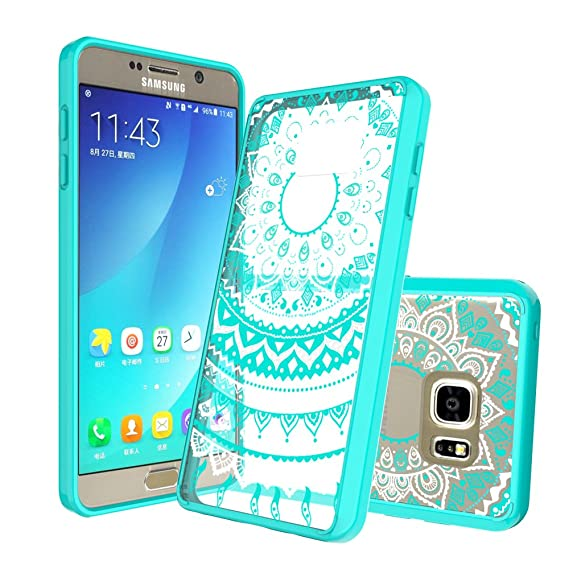 buy online 7cd3f 57adb Note 5 Case,Samsung Galaxy Note 5 Case,AnoKe Mandala Cute Thin Slim Fit TPU  Bumper Clear Protective Mobile Cell Phone Cases Cover with Screen ...