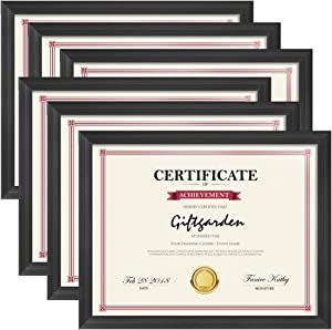 Giftgarden 8.5x11 Picture Frames Black Frame Set for Tabletop or Wall Decor, 6 Pack
