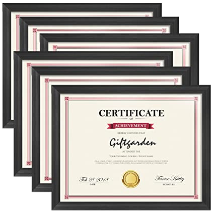 Amazoncom Giftgarden 85x11 Picture Frames Certificate Document