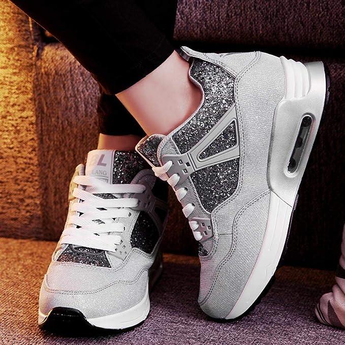 ❤ Zapatos para Correr Brillante Mujer, Fashion Women Increase Casual Shoes Wear Calzado Deportivo Student Shoes Calzado Brillant Absolute: Amazon.es: ...