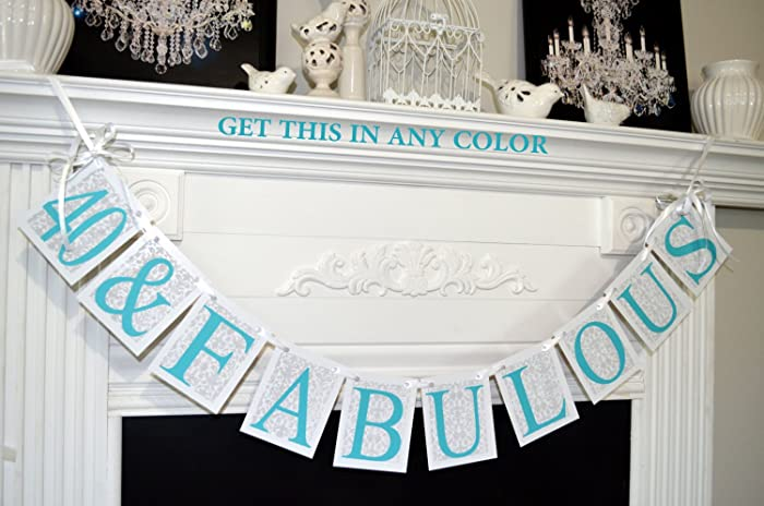 Amazon 40 And FABULOUS Birthday Banner 40th Handmade