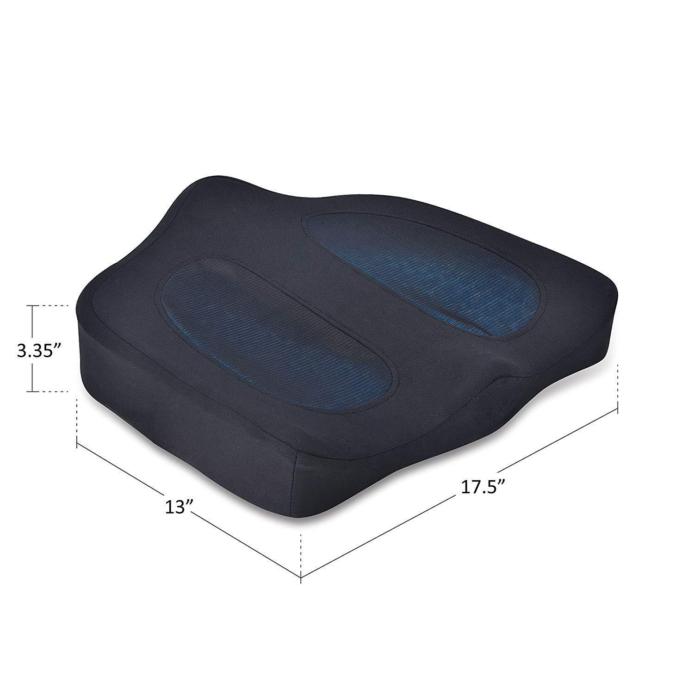 Amazon.com: Comfier Cojín de gel para asiento con masaje y ...