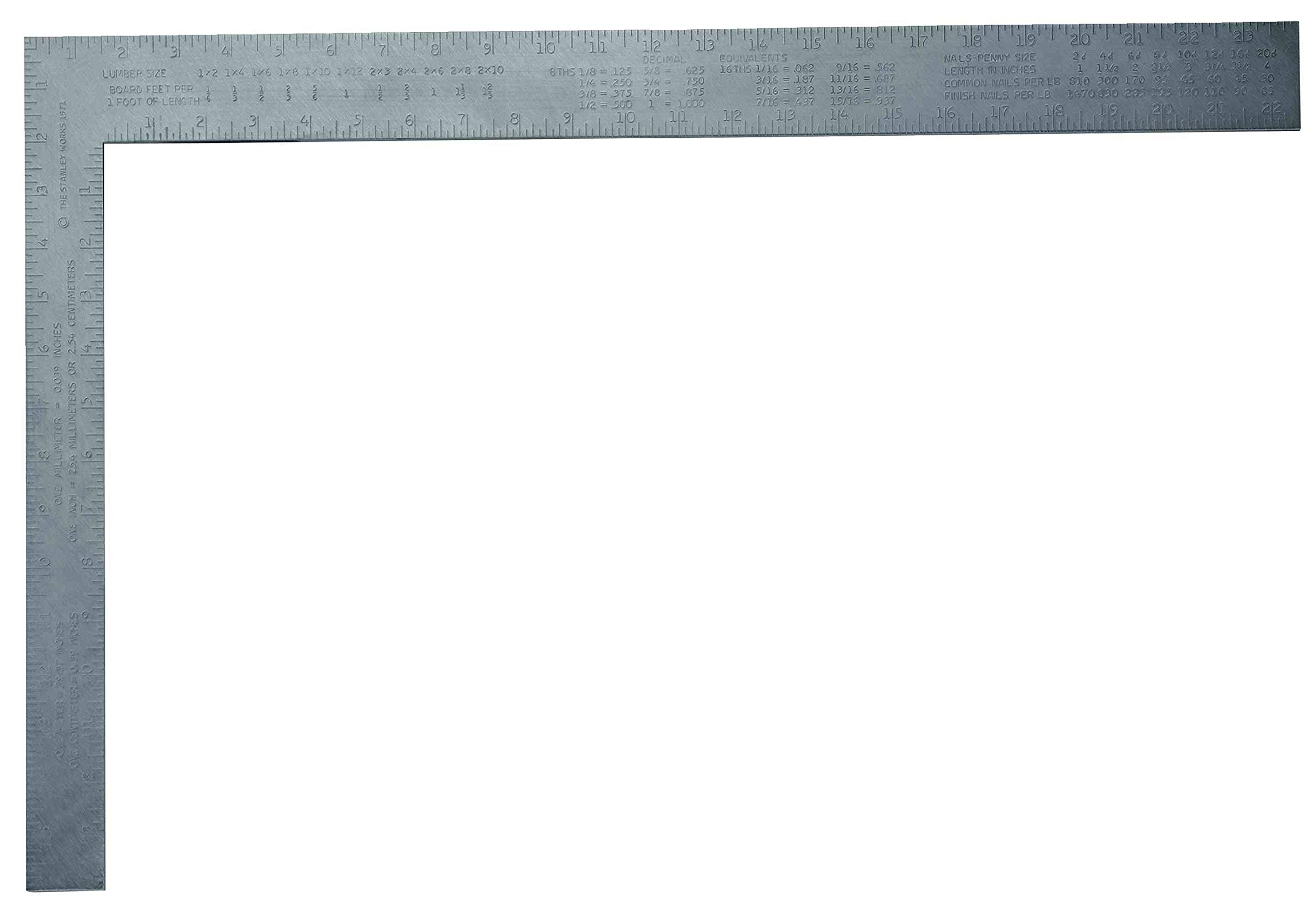 2 Pack Stanley 45-300 24'' x 16'' Aluminum Carpenter's Square