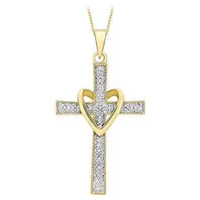 pendentif croix or jaune femme bijoux populaires
