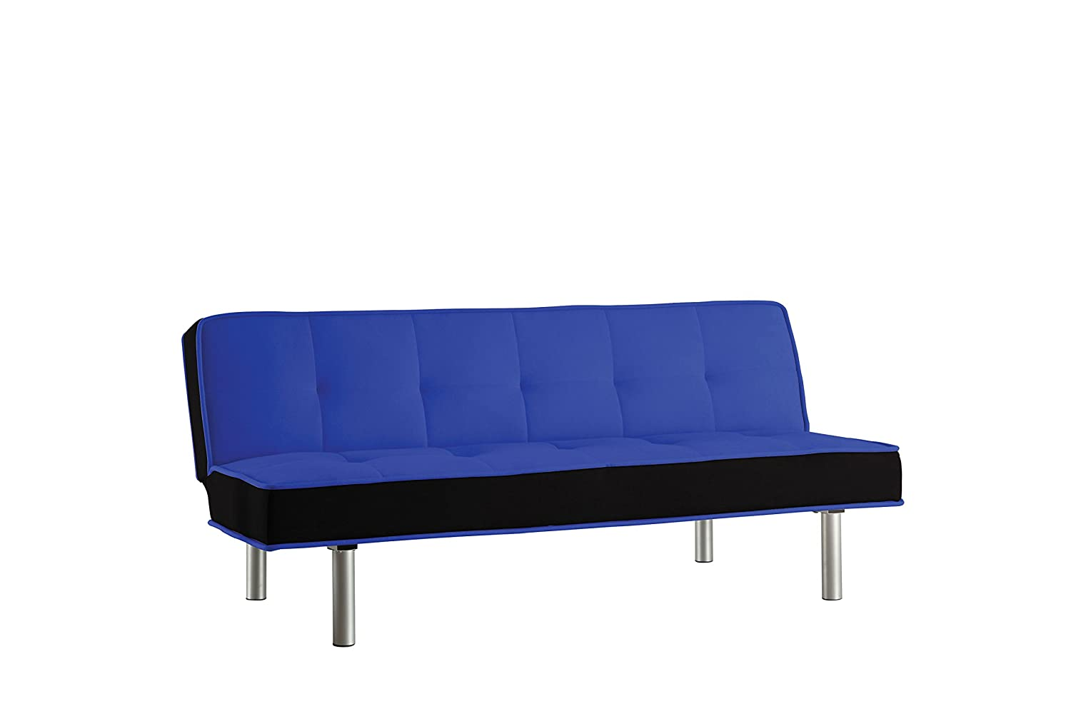 ACME Hailey Adjustable Sofa, Blue and Black Flannel Acme Furniture 57136