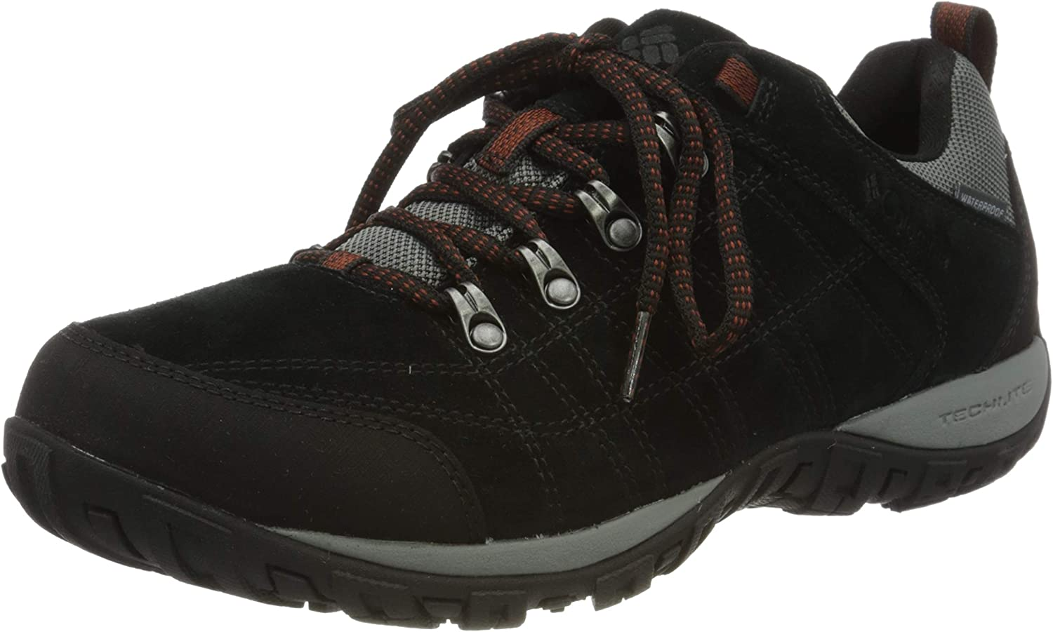 Columbia half Men's Low Rise Hiking Brown Long Beach Mall Boots Fiery Cordovan