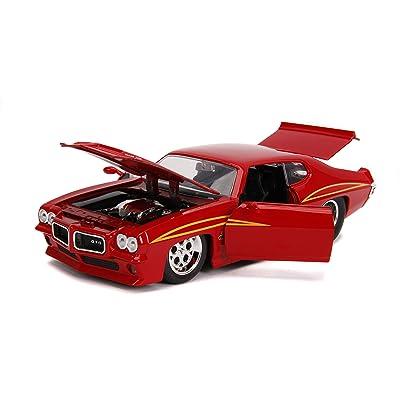 Jada 1:24 BTM – 1971 Pontiac GTO – Red: Toys & Games