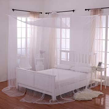 Heavenly 4 Post Bed Canopy White & Amazon.com: Heavenly 4 Post Bed Canopy White: Home u0026 Kitchen