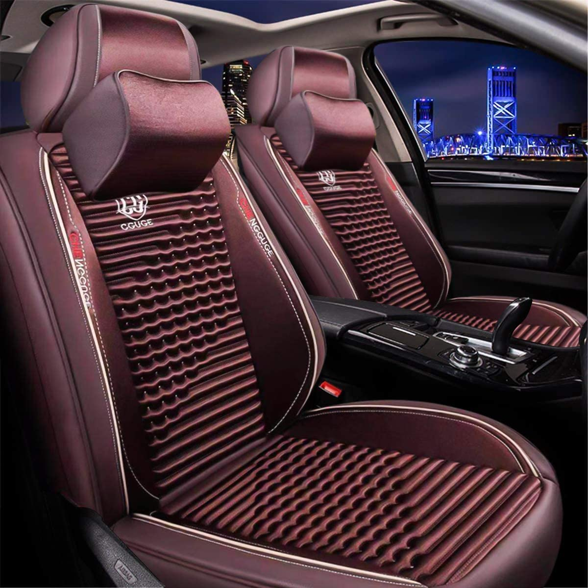 Black Leatherlook Front /& Rear Car Seat Covers for Toyota Yaris All Models