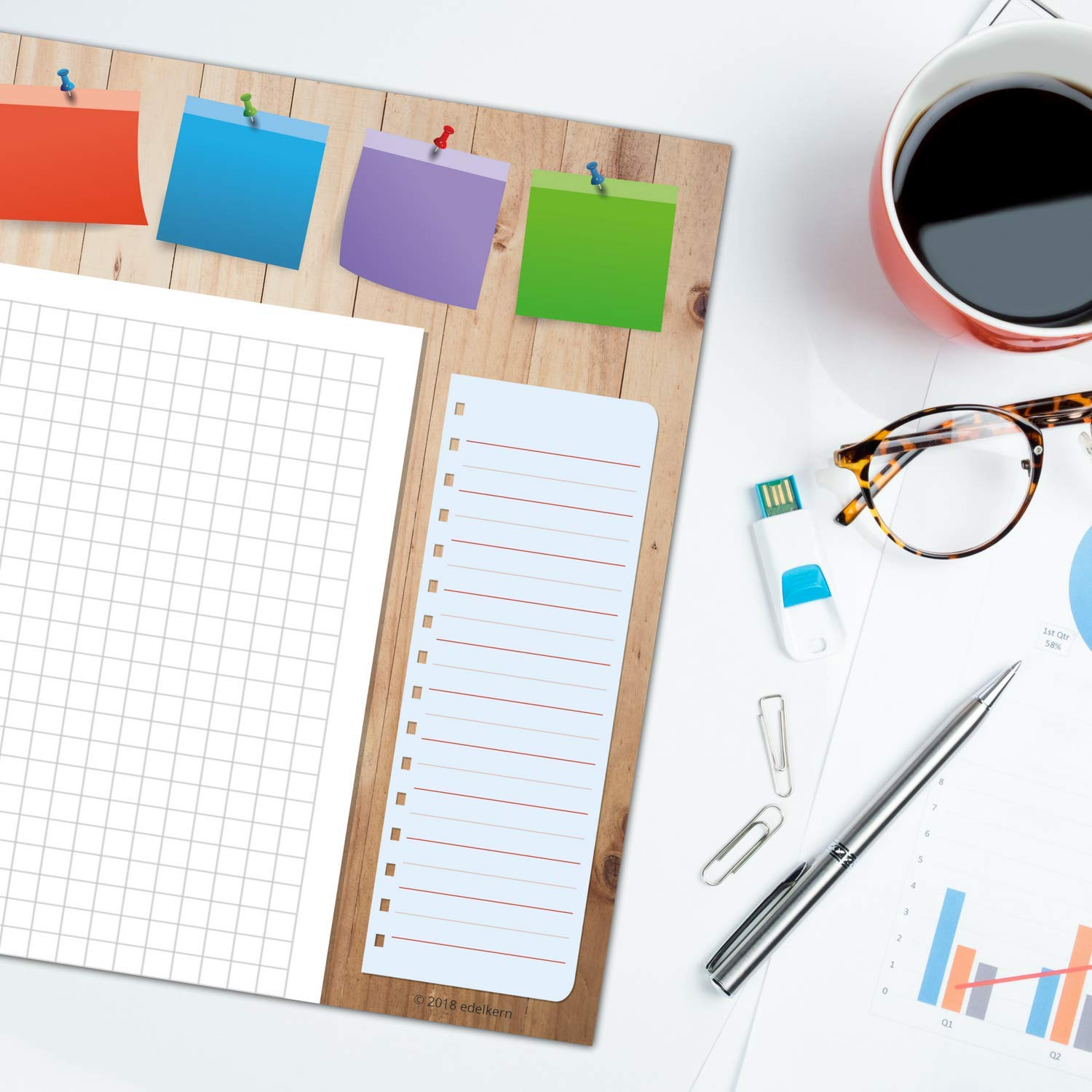 Desk Pad Made Of Paper For Children Adults Ideal As Notepad