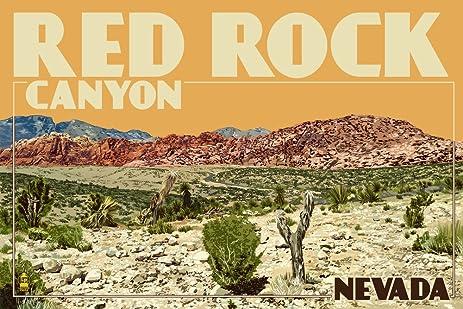 Amazon.com: Red Rock Canyon - Las Vegas, Nevada (9x12 Collectible ...