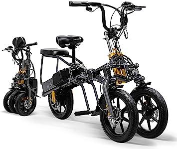CYGGL Triciclo eléctrico para Adultos Plegable de Tres Ruedas ...
