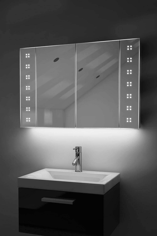Diamond X Collection Badezimmer Spiegelschrank mit automatischer ...