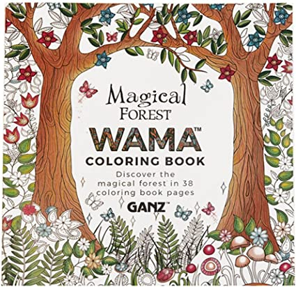 - Amazon.com: GANZ WAMA Magical Forest Adult Coloring Book