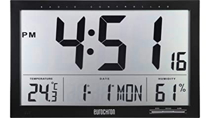 eurochron jumbo  Funk orologio a parete Eurochron EFWU Jumbo 100 370mm x 230mm x 30mm ...