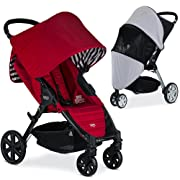 Britax Pathway Stroller, Cabana with Suncover Bundle