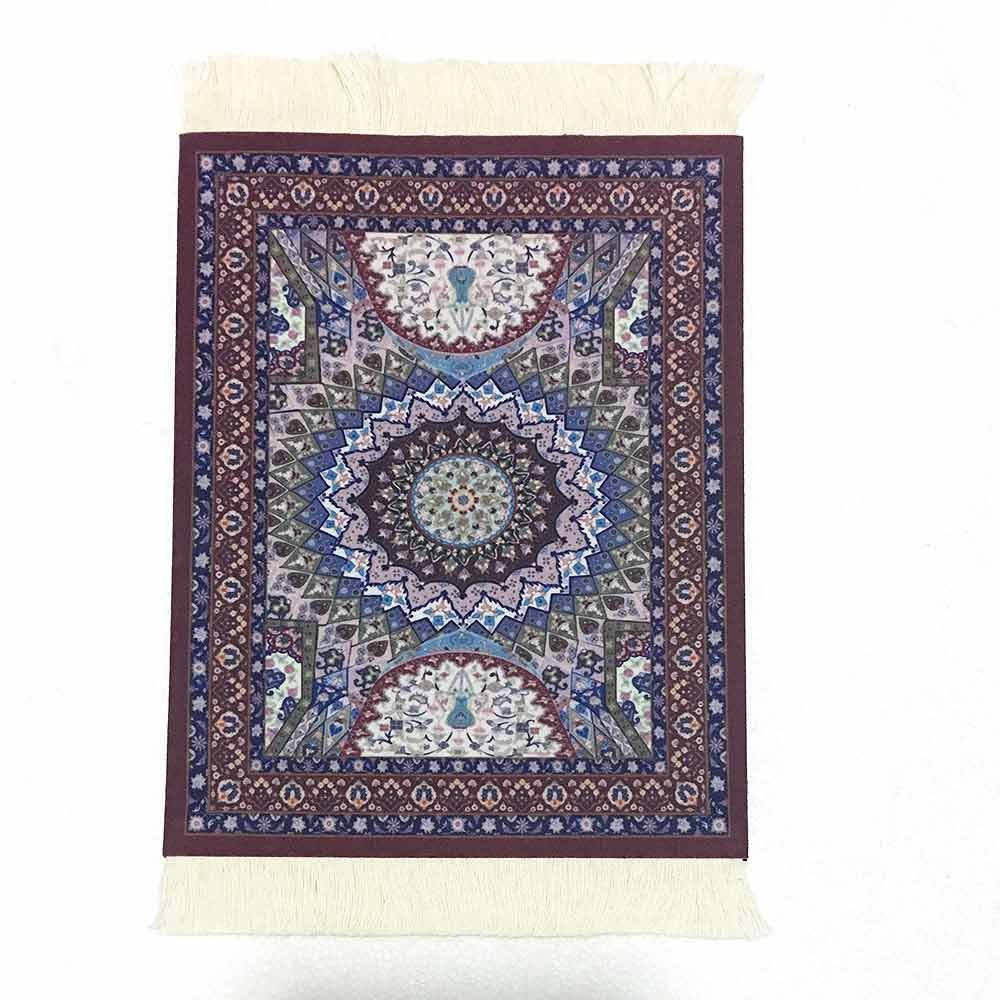 Purple Sunny Hill Vintage Persian Style Woven Rug Mouse Pad Carpet Mouse Mat Office Tool Gift Mouse Mat Pad for Computer Bohemia