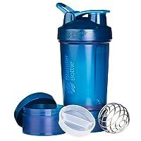 BlenderBottle ProStak Shaker per proteine 650 ml | con 2 contenitori incl. 1 scomparto per pillole | BlenderBall
