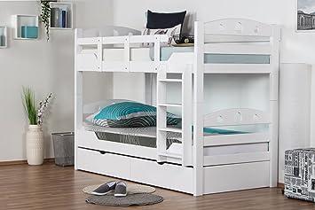 Etagenbett Für Erwachsene Weiß : Etagenbett erwachsene extra stabil nische cm mit