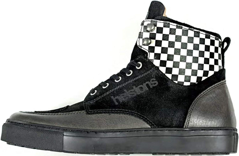 Helstons Motorcycle Boots Utah Leather Black Black 42