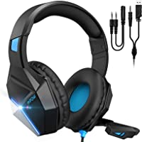 Mpow EG10 Gaming Headset for PS4, PC, Xbox One Controller,Over-Ear Headphones with Mic Noise Cancelling, Switchable LED…